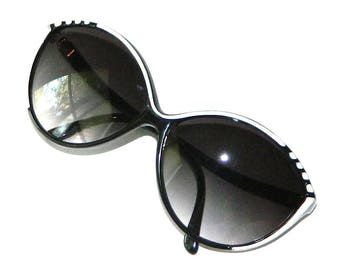 Vintage 1980's Black and White Sunglasses
