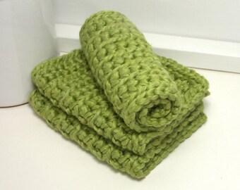 Organic Dishcloths, Eco Friendly Dishcloths, Crochet Dishcloths, Set of 3, Organically Grown Cotton