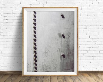 """black and white photography, large art, printable art, instant download printable art, digital download, industrial wall art -""""Rivets No. 2"""""""