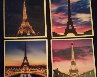 Eiffel Tower Coasters- set of four