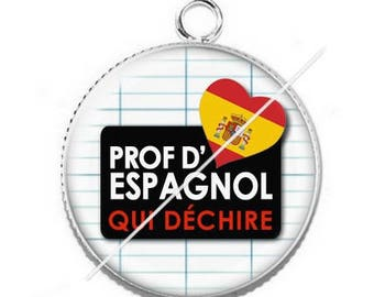 Cabochon resin cameo for Spanish teacher 7