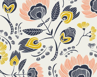 Flora's Oasis Rosa. Art Gallery Fabrics Tule colletion by Leah Duncan - 100% premium cotton. TL-40020