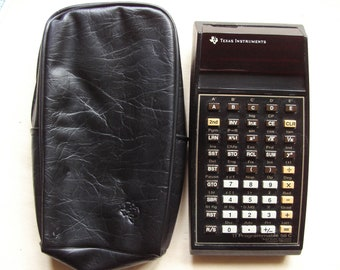 A nice old vintage Texas Instruments TI Programmable 58C  calculator led screen