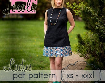 Ladies A-Line Shift Dress & Tunic - INSTANT DOWNLOAD - xs through xxxl - pdf sewing pattern