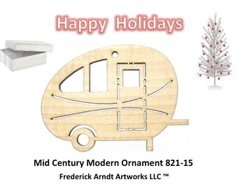 821-15 Mid Century Modern Christmas Ornament