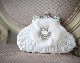 Wedding Handbag, Bridal Purse, Wedding Purse, Bridal Hand Bag, Wedding Clutch, Bridal Clutch