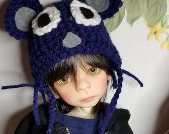 Handmade crochet mouse themed doll hat stocking cap made to order fits all dolls