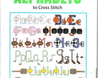 Sports Alphabets to Cross Stitch ~ NEW BOOK ~ Leisure Arts ~ Soft Cover Book