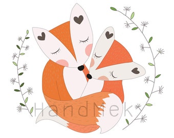Fox doodle, fox clip art, instant download, PNG , EPS , file - 300 dpi