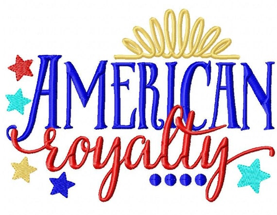 SAMPLE SALE, American Royalty - Girls 4th of July Shirt - Boys 4th of July Shirt - Kids Patriotic Shirt - Independence Day Shirt