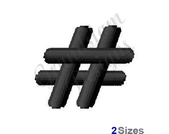 Hash Tag/Pound Sign - Machine Embroidery Design