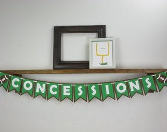 Concessions Football Banner - Football Banner - Football Birthday Decor
