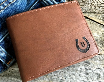 Gift for horse lover• horseshoe wallet • equestrian gift for him • horse wallet • personalized horse gift  • Toffee 7751 >