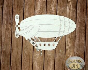 "Laser Cut Chipboard ""Steampunk. The airship"""