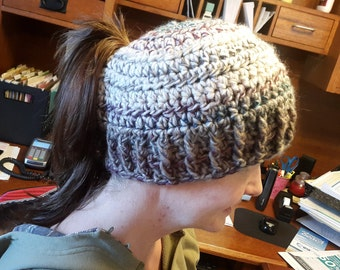 Messy Bun Ponytail Hat