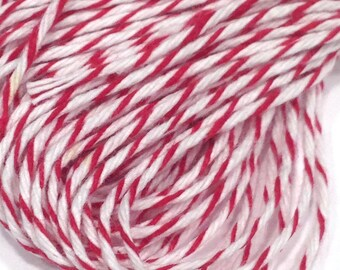 Red Striped Baker's Twine, 25 yards or 75 feet