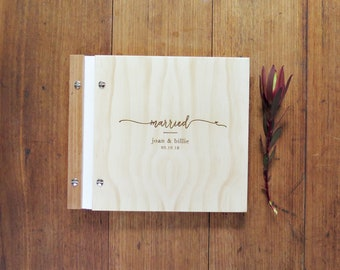 Wedding Guest Book, Married Wedding Design, Engagement Gift, Anniversary Gift, Bridal Shower