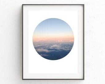 Sky Print Art, Sky Prints, Cloud Wall Art Decor, Sky Wall Art Decor, Scandinavian Print, Clouds, Photography, Printable Art, Oju Design