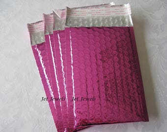 10 Hot Pink Bubble Mailers, Metallic Mailers, Pink Bubble Mailer, Padded Envelopes, Bubble Envelopes, Shipping Envelopes, Mail Bags 4x8