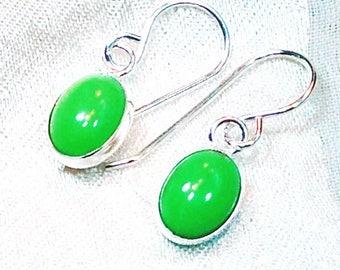Utah Variscite Earrings In Sterling Silver Handmade Jewelry By NorthCoastCottage Jewelry Design & Vintage Treasures