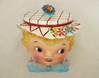 Vintage Lefton Miss Dainty Cookie Jar - ESD Japan - 040
