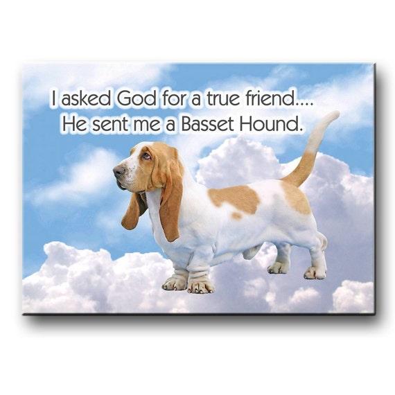 Basset Hound True Friend Fridge Magnet No 1