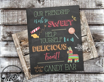 Fiesta Candy Bar Sign - DIY Printing or Professional Print Available