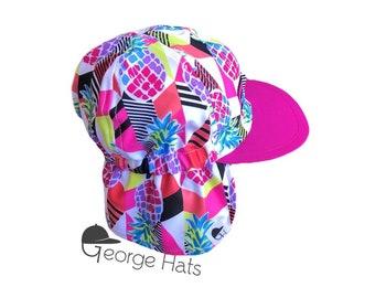 Baby, Toddler & Kids Sun Hat / Kids Swim Hat / Childrens Sun Hat / Pink Pineapple