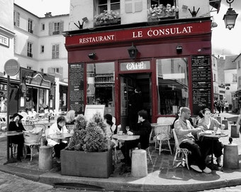 Le Consulat - Window Shopping - Restaurant - Store Front - Paris - France - Photo - Print