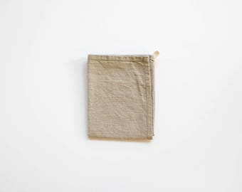 two linen tea towels / kitchen towel / hand towel / great for travel / made in usa