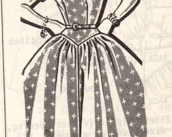 Bust 32-FACTORY FOLDED Misses'/Teen Dress Mail Order 8165 Size 12 Waist 25 Hip 34