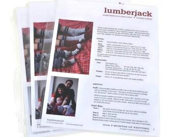 CLEARANCE Printed Lumberjack Bootie Sock Knitting Pattern, Tin Can Knits, sock knitting, slipper knitting pattern, bootie knitting pattern