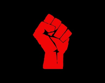 OWS / 99 Percent / Power / Solidarity / Occupy / Raised Fist / Mic Check - Vinyl Decal