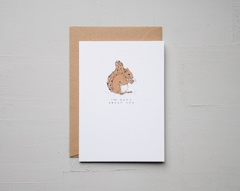 I'm Nuts About You - Squirrel Card - Anniversary Card - Funny Card - Birthday Card - Love Card - Note Card