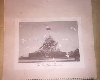 Vintage 1961 Iwo Jima Pictured Calendar