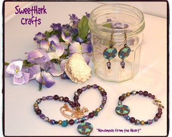 Purple Butterfly Natural Stones & Rocks