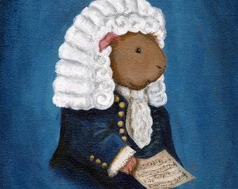 Guinea Pig Johann Sebastian Bach Classical Music Art Print