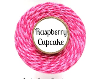 Pink & Raspberry Bakers Twine by Trendy Twine - Raspberry Cupcake - Valentine Bakers Twine