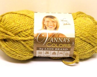 Lion Brand Vanna's Colors Topaz Yellow Green Yarn Skein Bulky Weight DISCONTINUED