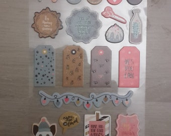 Stickers stickers for scrapbooking cardmaking 3D cardboard
