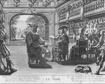 Poster, Many Sizes Available; Grande Salle Du Palais Cardinal C1642 Engraving Le Soir By Van Lochun Holsboer 1933 Plate6