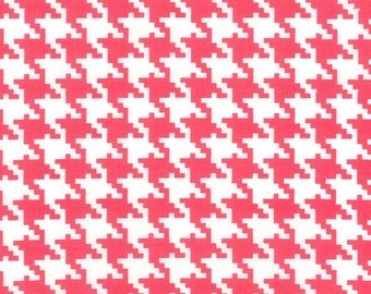 Pink Houndstooth Fabric by Michael Miller