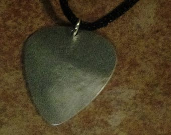 Sterling Silver guitar pick necklace