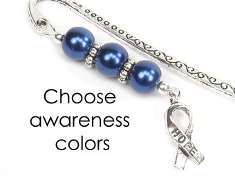 Cancer Awareness Hope Bookmark, Cancer Awareness Colors, Cancer Patient Gift