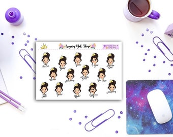 Moody Girls Sampler Sticker Sheet