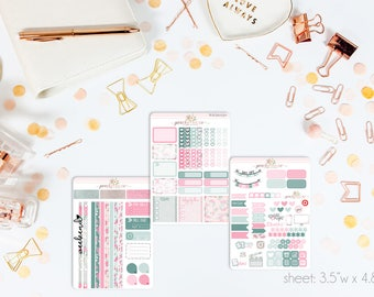 Spring Forward MINI Weekly Kit // 130+ Matte Planner Stickers // Perfect for your Personal Planner // WKM0550