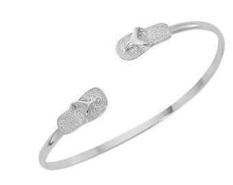 Sterling Silver Flip Flop Twist Bracelet