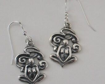 Sterling Silver GODDESS Earrings -  Fertility, Abundance