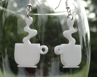 Cup of Joe Acrylic Earrings