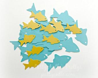 Fish Die Cuts, Fish Confetti, Father's Day Die Cuts, Father's Day Confetti, Travel Die Cuts, Under the Sea Die Cuts, Ocean Die Cuts